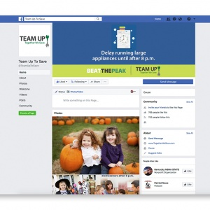 Team Up To Save Facebook page